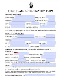Free Super 8 Motel Credit Card Authorization Form - Pdf
