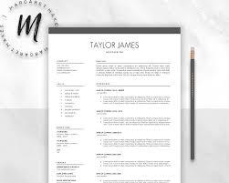 Minimalist Resume Template Resume Templates Creative Market Mesmerizing Minimalist Resume