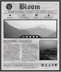 Newspaper Template For Photoshop Newspaper Template Photoshop