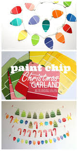 Paint chip christmas garland! kid craft