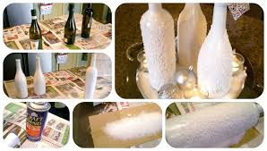 How To Decorate A Wine Bottle For Christmas DIY Christmas Epsom Salt Wine Bottles 80