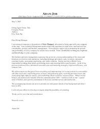 Fashion Retail Cover Letter Cover Letter Cover Letter For Sales