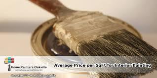 average per square foot for interior painting