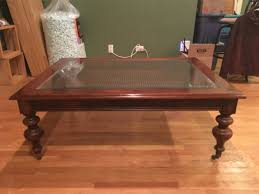 coffee table coffee table ethan allen dark antiqued pine oldorld regarding old world coffee