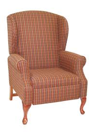 queen anne wingback recliner 3 positions