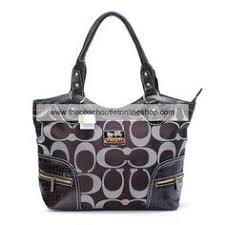 Coach New Alex Signature Chocolate Satchel