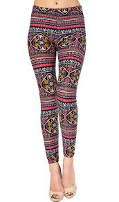 Viv Collection Size Chart Viv Collection Plus Size Printed Brushed Leggings Amazoni