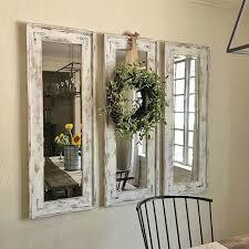 2 whitewashed mirror green wreath