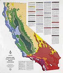 generalized plant climate map of california br