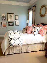 Colorful Master Bedroom Completed Linen Navy And Coral Bedroom Pale Blue Cream Navy