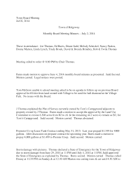 Town Board Meeting Jul 02, 2014 Town of Ridgeway Monthly Board Meeting  Minutes – July 2, 2014 Those in attendance: Joe Thomas