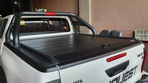HiLux conquest Revo Tufflid Roller Lid Slider bed Cover with locks, Car  Parts & Accessories, Body Parts and Accessories on Carousell