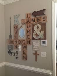 wall art scrabble letters