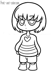 undertale coloring 8 frisk chara