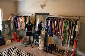 bedroom freestanding clothes rack for girls