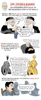 j m coetzee s essays on literature examine the role of the author small j m coetzee inspired illustration by nathan gelgud