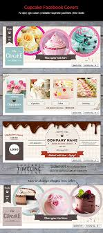 creative trendy facebook timeline covers for cake cupcake bakery or studio