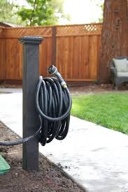 diy hose reel outdoor garden