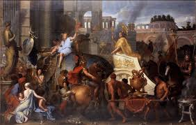 alexander entering babylon the triumph of alexander the great artist le brun