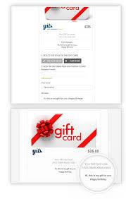customize gift card