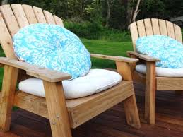 diy seat cushions image of round patio chair cushions blue