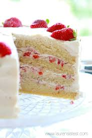 Strawberry And Cream Layer Cake Laurens Latest