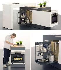 Modular Kitchen (Concept): For a futuristic take on small space .