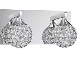 kendal lighting crys chrome with ringles encasing optic crystal jewels two light vanity light