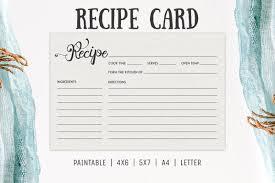 Recipe Card Templates Free Free Cooking Recipe Card Template Rc2 Creativetacos