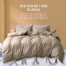 bedding sets 4 size luxury duvet cover gift pillow case new khaki duvet cover sets quilt