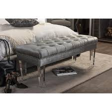 grey tufted bench. Exellent Grey On Grey Tufted Bench L