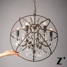 replica item american style vintage re light foucaults orb clear intended for orb crystal chandelier prepare 7