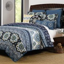 Navy Bedding and Navy Quilts – Ease Bedding with Style & Paisley Pattern Navy Blue Cotton 3 Piece King Size Quilt Bedding Set Adamdwight.com