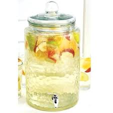 beverage jar glass mason drink water dispenser square with spigot costco replacement lid