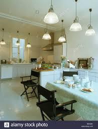 Glas Pendelleuchten In Moderne Küche Esszimmer Mit Weißem