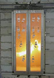 fire resistant glass framed panel door
