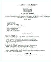 Examples Of Resumes For Medical Assistants Adorable Resume For Medical Assistant Luxury Resume Medical Assistant