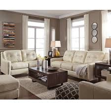 ashley o kean cream leather sofa