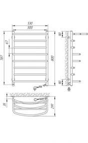 Электрический <b>полотенцесушитель Laris Евромикс П8</b> 500x800 с ...