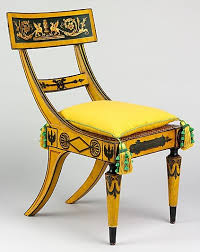 fig 4 tablet back side chair attributed to john and hugh finlay active 1800 1833 1815 1820 baltimore maryland maple with painted decoration ancient greek furniture