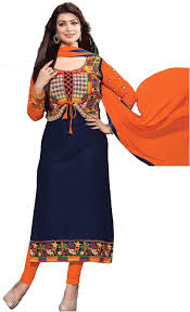 Amazon Punjabi Suits Design Chakudee By Blue Cotton Drees Material Amazon In Clothing