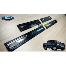 ford ranger t6 2011 2018 carbon fiber car door step side sill scuff plate loading zoom