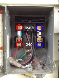 diagnosing air conditioning •• some blog site image of the external fuse box for a central air conditioning system