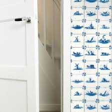 Kek Amsterdam Wallpaper King Blue Tile Blue Non Woven Paper 974