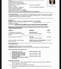 Awesome Perfect Format Of Resume For Freshers Contemporary Entry