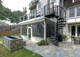 deck with screen porch spiral staircase traditional dc metro stairs calgary and wooden spiral staircase