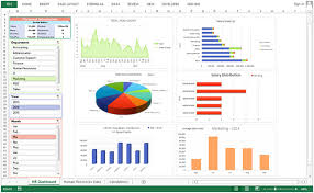 hr dashboard in excel human resource dashboard good use of slicers microsoft excel