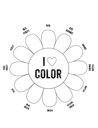 Color in all the parts of the picture using the color wheel. Printable Color Wheel Mr Printables