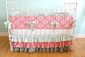 beautiful c and aqua baby bedding