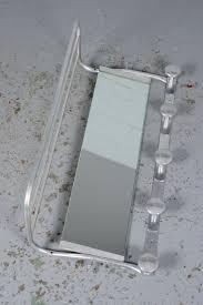 Coat Rack With Mirror And Shelf Art Deco Aluminium Coat Rack with Mirror and Hat Shelf Industrious 99